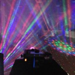 Laser lights with Fog machine